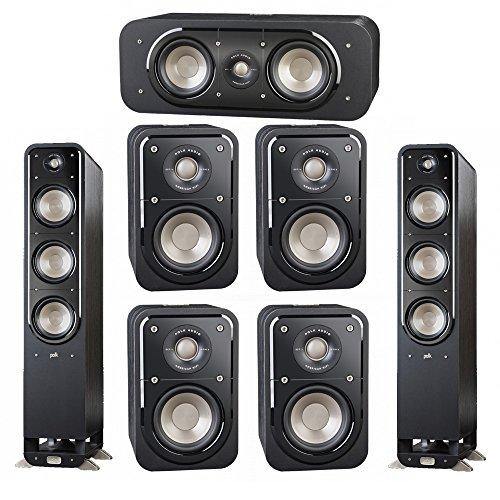 Best of Polk Audio Signature 7.0 System with 2 S60 Tower Speaker, 1 Polk S30 Center Speaker, 4 Polk S10 Surround Speaker