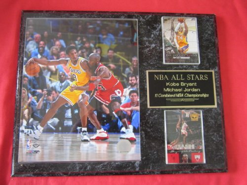 Kobe Bryant Michael Jordan 2 Card Collector Plaque w/ 8x10 Photo