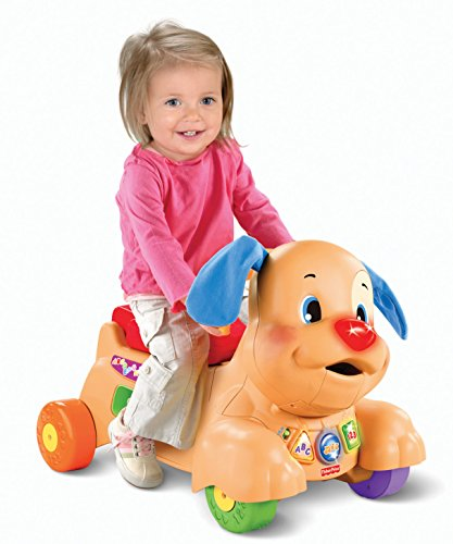51fJuuz4hXL - Fisher-Price Laugh & Learn Stride-to-Ride Puppy [Amazon Exclusive]