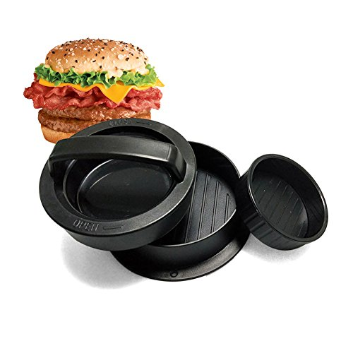 (Kookoosmart Stuffed Burger Press, Non-Stick Patty Maker, Three-In-One Burger Meat Press with Removable Base - Perfect for Making Sliders, Barbecue,)