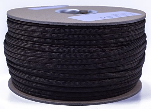Solid Colors Paracord - Type III Parachute Cord - Acid Brown - 250 Foot Spool by BoredParacord (Image #1)
