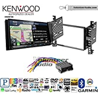 Volunteer Audio Kenwood DNX874S Double Din Radio Install Kit with GPS Navigation Apple CarPlay Android Auto Fits 2001-2006 Hyundai Elantra