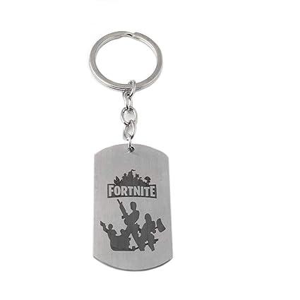 Fortnite - Llavero Plateado plata: Amazon.es: Equipaje