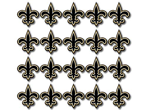 Fleur De Lis Stickers (American Vinyl 20 Pack New Orleans Saints 1 Inch Fleur De Lis Shaped Stickers (Logo Football Louisiana)