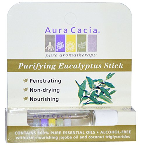 Aura Cacia, Purifying Eucalyptus Stick, Alcohol-Free, 0.29 fl oz (8.6 ml) - 3PC (Aromatherapy Stick Purifying Eucalyptus)