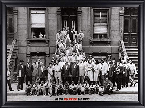 artworkforless.com Jazz Portrait – Harlem, New York, 1958 Poster Print by Art Kane Framed Image Size is 24×35, Finished Size 28×39