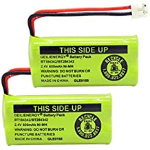 GEILIENERGY 2.4V Rechargeable Cordless Phone batteries for AT&T/Lucent BT-18433 BT-184342 BT-28433 BT-284342 BT-6010 BT-8000 BT-8001 BT-8300 Empire CPH-515D CPH515D(Pack of 2)