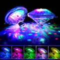 Pool Lights?Floating Led Lights Waterproof, Colorful Swimming Pool Lights Pond Lights Baby Bath Lights The Tub with Screw Driver for Pond, Aquarium, Party, Wedding, Home Decoration, Christmas(2-Pack)