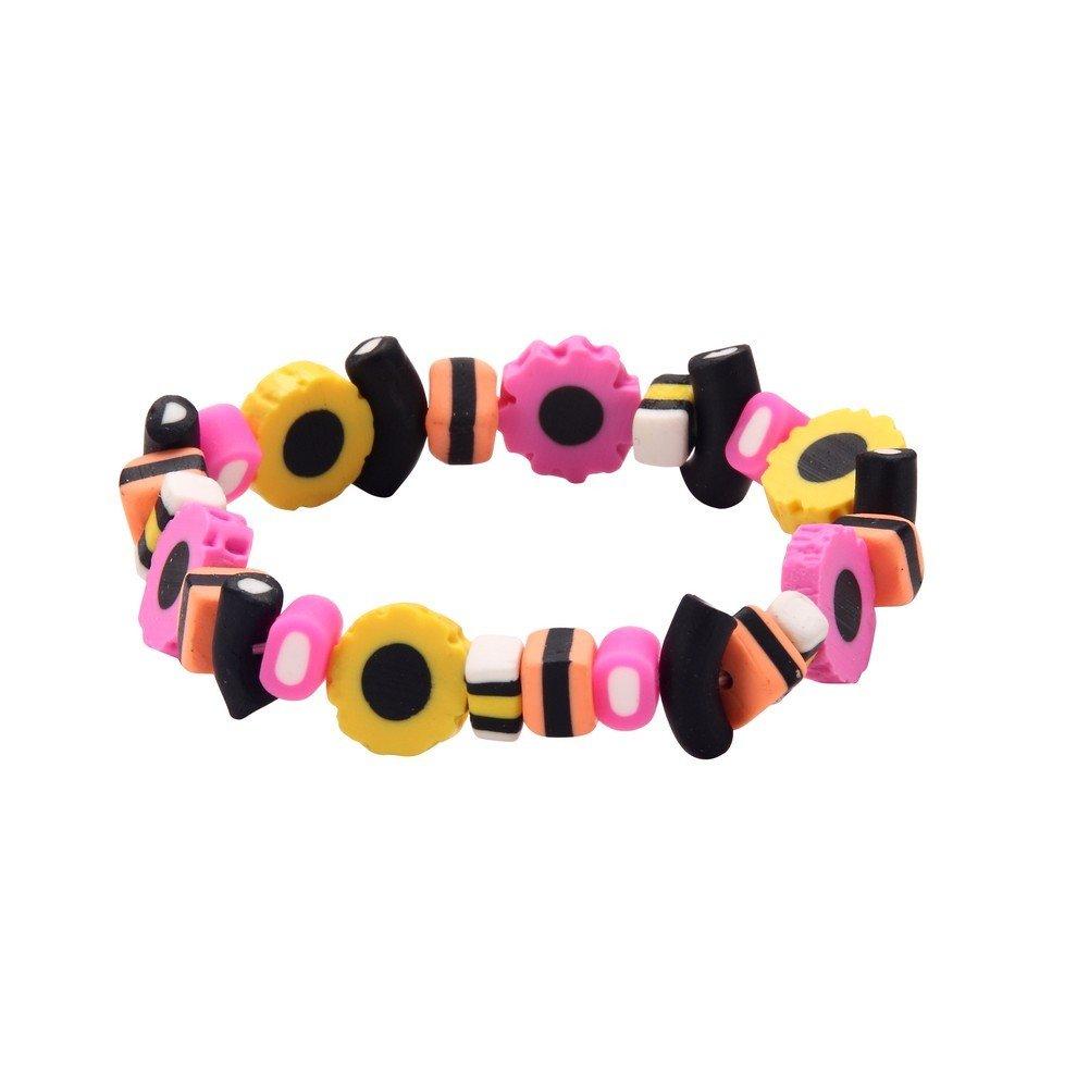 Joe Cool Bracelet Liquorice Allsorts Elasticated Made with Resin /& Elastic