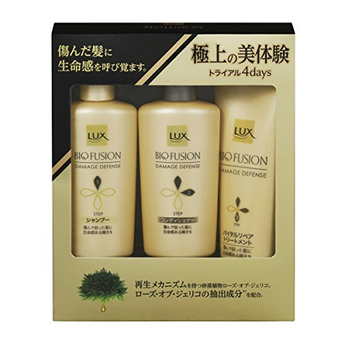 Unilever Japan LUX BIO FUSION | Shampoo, Conditioner Set | Damage Defense Shampoo 40g, Conditioner 40g, Treatment 50g (Japan Import)