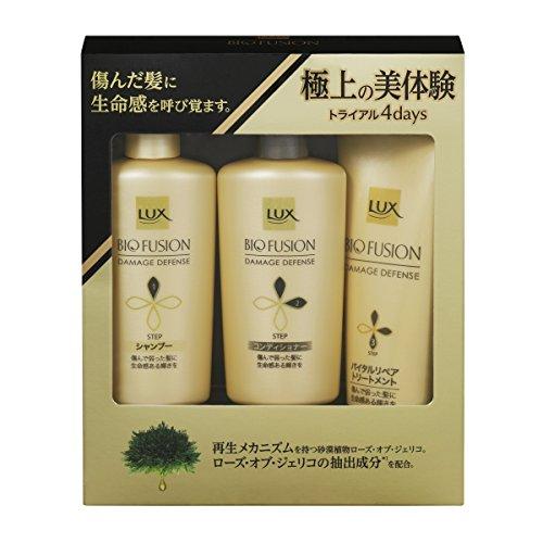 Unilever Japan LUX BIO FUSION | Shampoo, Conditioner Set | Damage Defense Shampoo 40g, Conditioner 40g, Treatment 50g (Japan Import)