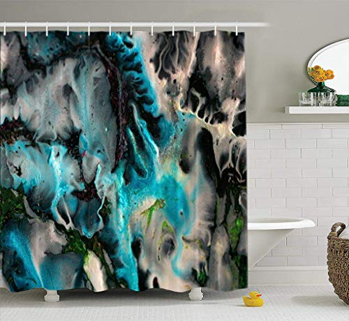 Bathroom Shower Curtain Acrylic Colors Abstract Canvas Lights Modern Plastic Shine Sky Waterproof and Mildew Resistant Fabric Shower Curtain Sets with 12 Hooks-78 x 72 inches
