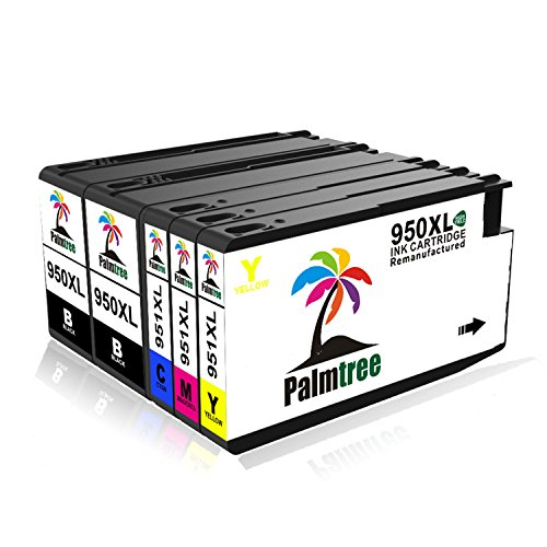Ink Cartridge 950XL 951XL Palmtree Re-manufactured Replacement for HP 950 951 High Yield, Compatible with HP Officejet Pro 8600 8610 8620 8630 8100 8640 8660 8615 8625 251dw 271dw 276dw Printer