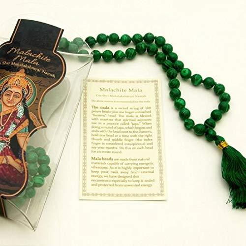 Prayer Mala Beads - Man-made Malachite - 108 Prayer Beads