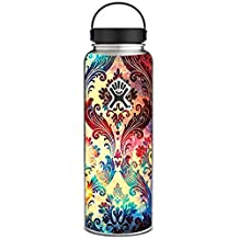 Skin Decal Vinyl Wrap for Hydro Flask 40 oz Wide Mouth / Galaxy Paisley Antique