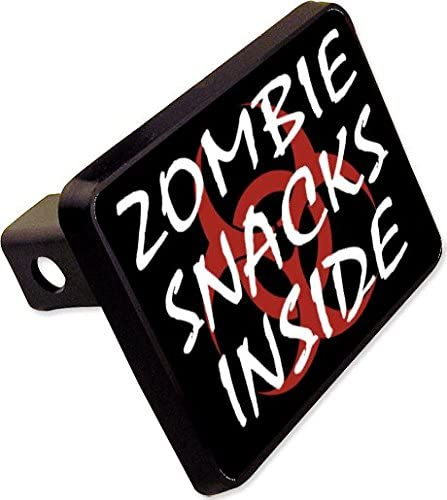Zombie Snacks in Side Trailer Hitch Cover Plug Funny Novelty