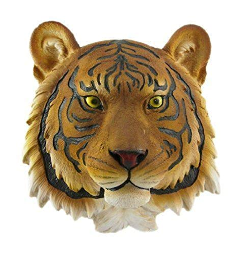 (Ky & Co YesKela Orange Bengal Tiger Head Wall Art Figurine Hanging Plaque 7.5 Inch Tall Decor)