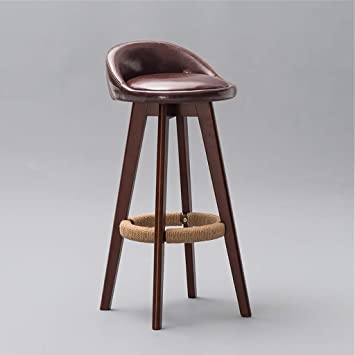 Bar Furniture Bar Chairs Backrest Solid Wood Bar Chair Bar Chair Bar Stool Bar Stool Simple Household High Chair Front Desk Chair.