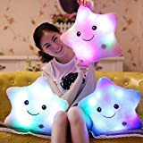 ZTD Creative Glowing LED Night Light Twinkle Star Shape Plush Pillow Stuffed Toys, Pink