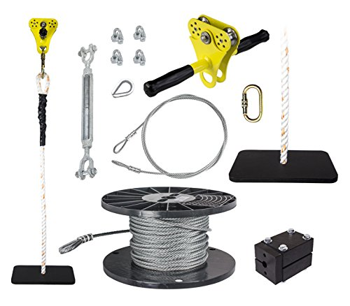 Hornet Zip Line Kit w/ Seat - - 50ft Trolley