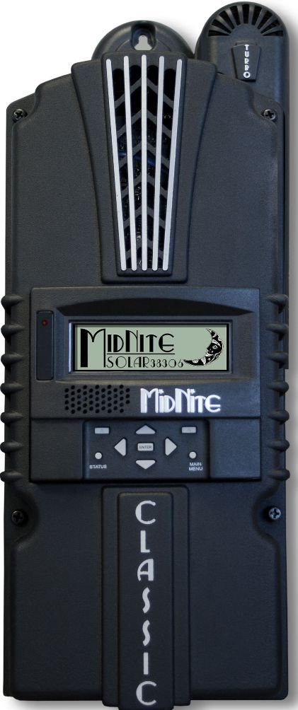 MidNite Solar CLASSIC 150 Charge Controller, 150 Operating Voltage, Max Current Out 96 Amps, ETL Listed to UL1741 and CSA, Type 1 Environmental Rating, Terminals are Rated for 75°C