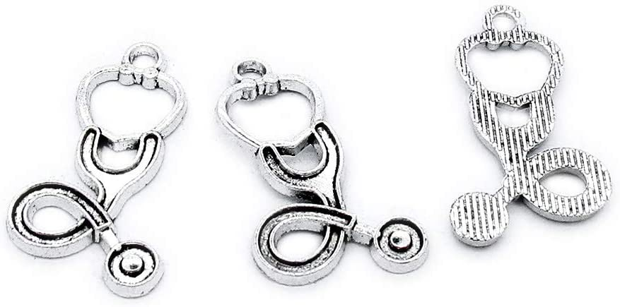 170 Pieces Antique Silver Plated Jewelry Charms Findings Fashion Craft Making Crafting GG4P3U Heartbeat Heart Beating