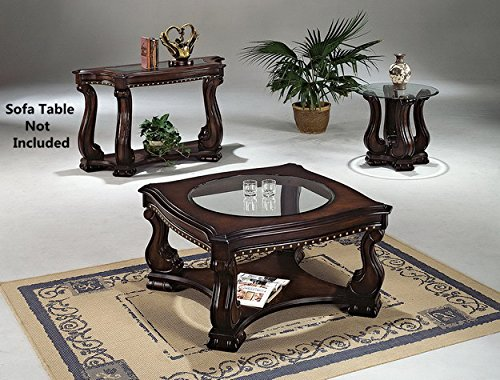 Click 2 Go 38''x38''x20''H Madison Coffee Table with Glass Table Top 38' Cocktail Table Set