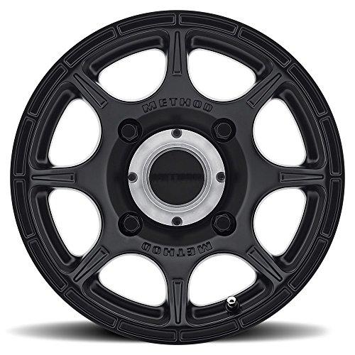Bundle - 9 Items: Method 408 15'' Bk (5+2) Wheels 26'' BigHorn Tires [4x156 Bolt Pattern 12mmx1.5 Lug Kit] by Powersports Bundle (Image #1)