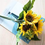 Dolicer-Artificial-Sunflower-Bouquets-Lifelike-Silk-Sunflowers-with-8-Floral-Heads-Artificial-Silk-Flowers-Bride-and-Groom-Holding-Flowers-for-DIY-Wedding-Office-Party-Garden-Hotel-Home-Decoration