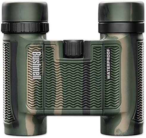 Bushnell H2O Waterproof Fogproof Compact Roof Prism Binocular, Camo, 10 x 25-mm