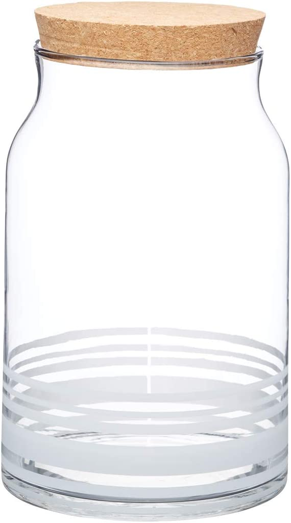 Kitchencraft Natural Elements Vetro Barattolo per Alimenti Trasparente 2.5/Litri