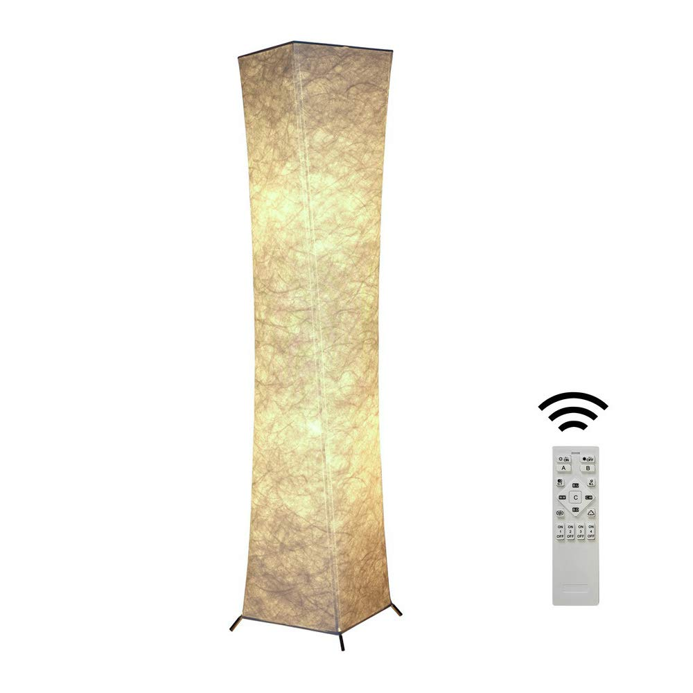 Rxlife 52'' LED Floor lamp Fabric Shade Modern Style Standing Lamp as Romantic Decoration & Reading Lighting for Living Room Bedroom Hotel RGB