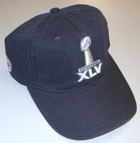 (Reebok Pittsburgh Steelers Super Bowl XLV Slouch Strap Back Hat - OSFA - EZK26)