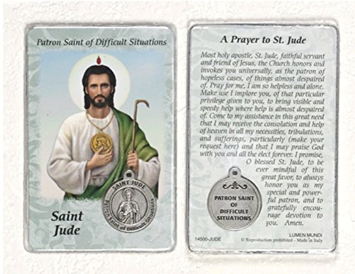 (Healing Saint - St Jude Card with Medal)