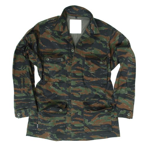 Mil-Tec BDU Combat Shirt Tiger Stripe size (Tiger Stripe Camo T-shirt)