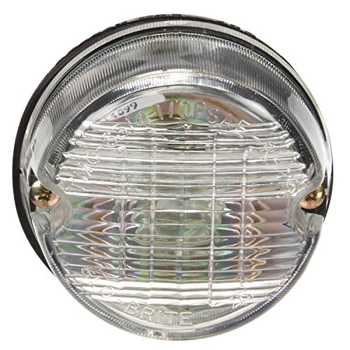 Truck-Lite 80340 Back-Up Light (80 Series, Incandescent, Clear Round, 1 Bulb, , Black Bracket Mount/2 Screw, Hardwired, Blunt Cut, 12V, Kit) (Series Backup Light)