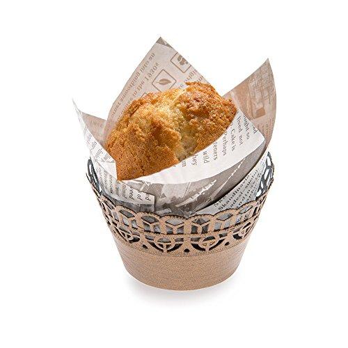 (Paper Cupcake Wrap, Muffin Wrap - Bellissimo Paper - Cocoa Brown - 2.1