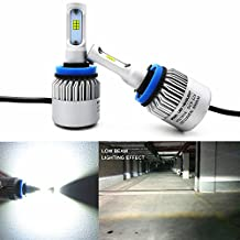 Alla Lighting New CSP Xtremely Bright LED Headlight Bulbs w/ High Power 8000Lm 6500K White Lamps (H11 H8)
