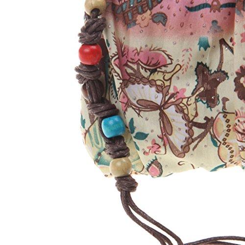 Bag Bohemian Vintage Prettyia Drawstring P Chain Women Strap Shoulder Bucket Lady Messenger qYS7f1p