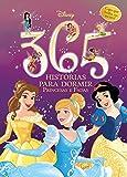 capa de 365 Histórias Para Dormir. Princesas e Fadas Disney - Volume 1. Capa que Brilha no Escuro