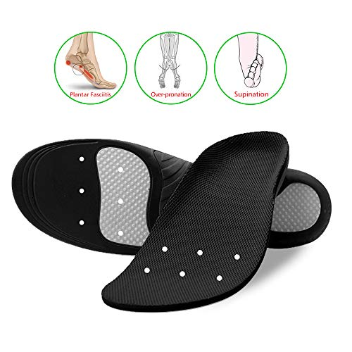 Snapsmile Scientifically Proven Plantar Fasciitis Orthotic Inserts - Shoe Insoles for Men and Women Arch Support Shoe Inserts Women Professional Insoles for Flat Feet Relieve Foot Pain - Black, L by Snapsmile (Image #2)