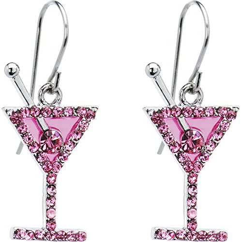 Body Candy Pink Martini Earrings