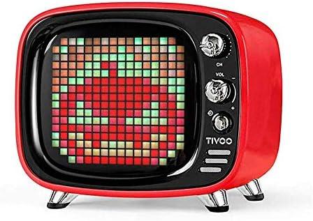 Altavoz Bluetooth Retro De Dibujos Animados CláSico con Pantalla Led Programable De Audio De 6W Controlada por AplicacióN MóVil,Rojo: Amazon.es: Deportes y aire libre