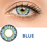 KFIAQ 5 Colors Eyes Color Contacts Lens Eyes Cosmetic Makeup Eye Shadow (Milk powder blue)