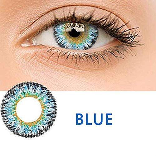 KFIAQ 5 Colors Eyes Color Contacts Lens Eyes Cosmetic Makeup Eye Shadow (Milk powder -