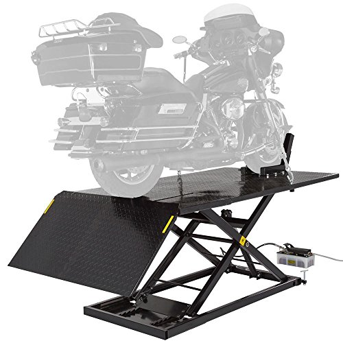- Black Widow Extra Wide Air/Hydraulic Motorcycle Lift - 1,500 lbs. Capacity