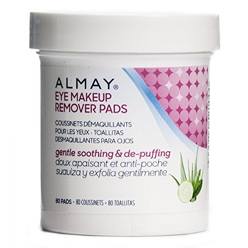 Almay Eye Makeup Remover Pads, Oil Free, Pack Of 2(80 pads each)