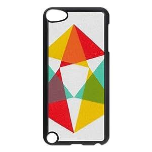 ZK-SXH - Abstract Geometric Triangles Custom Case Cover for iPod Touch 5, Abstract Geometric Triangles DIY Case