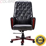 COLIBROX--Modern High Back PU Leather Deluxe Guest Office Accent Chair Furniture Black New. high back accent chairs for sale. modern office chair. best high back chair amazon.modern living room chair.