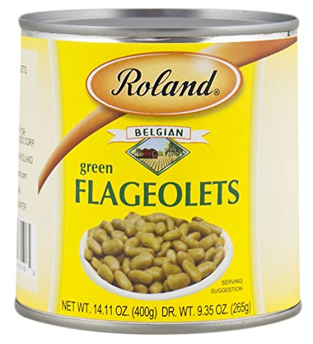 Roland Green Flageolets, 14.11 Ounce (Pack of 24) by Roland
